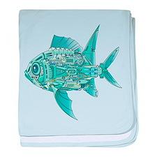 Robot Fish baby blanket