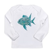 Robot Fish Long Sleeve Infant T-Shirt