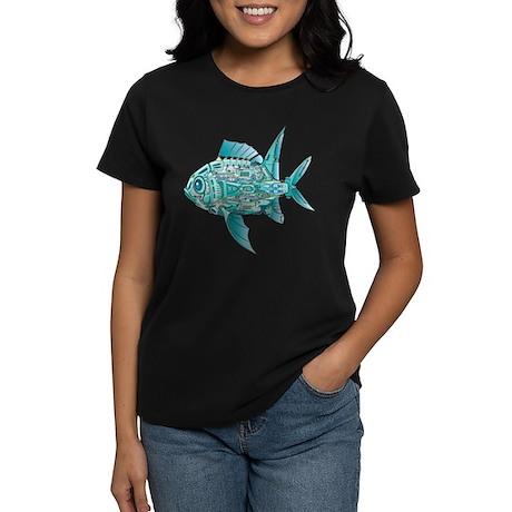 Robot Fish Women's Dark T-Shirt