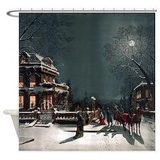 Vintage Christmas Eve Shower Curtain