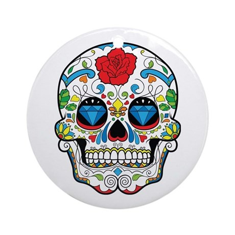 Sugar Skull Ornament (Round)