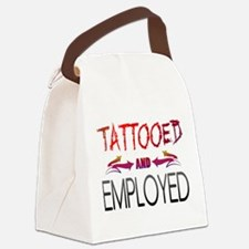 Tattooed and Employed Canvas Lunch Bag
