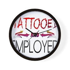 Tattooed and Employed Wall Clock