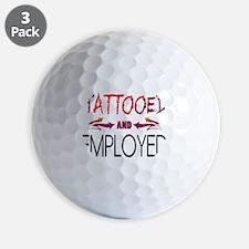 Tattooed and Employed Golf Ball