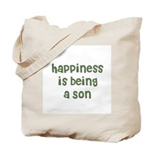 Happiness is being a Son Tote Bag
