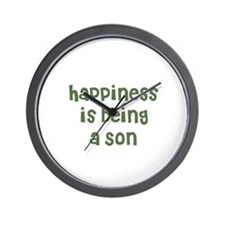 Happiness is being a Son Wall Clock