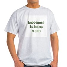 Happiness is being a Son Ash Grey T-Shirt