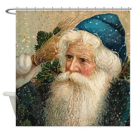 Vintage Santa Claus Shower Curtain