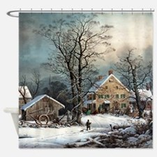 Winter In The Country Shower Curtain