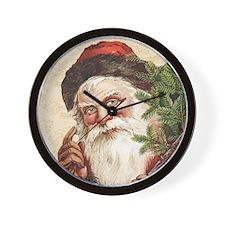 Vintage Santa Claus Wall Clock