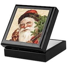 Vintage Santa Claus Keepsake Box