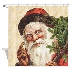 Vintage Santa Claus Shower Curtain