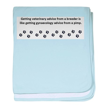Getting Veterinary Advice baby blanket