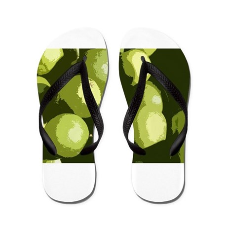 Limes and lemons Flip Flops