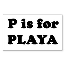 P is for PLAYA Rectangle Decal