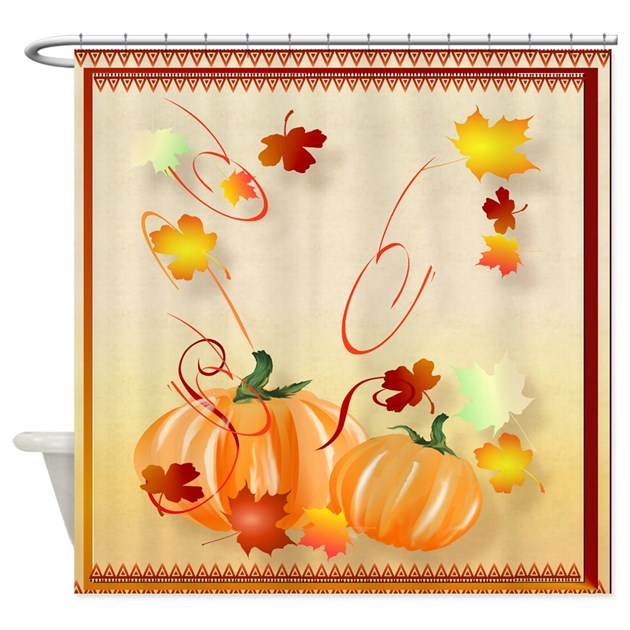 Beutiful Fall Shower Curtain By Lotacatspix