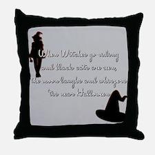 Tis near Halloween Throw Pillow