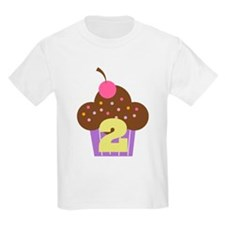 2nd Birthday Cupcake T-Shirt