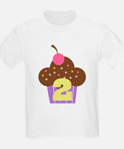 2nd Birthday Cupcake T-Shirt