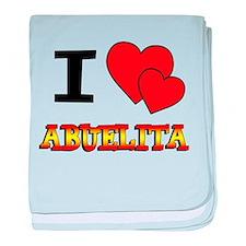 I Love Abuelita baby blanket