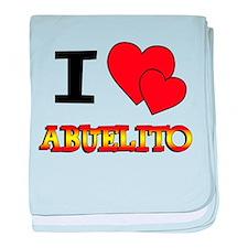 I Love Abuelito baby blanket