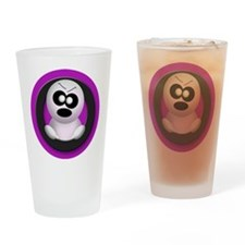 Cute Angry Ghost Purple Drinking Glass