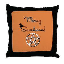 Merry Samhain Throw Pillow
