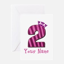 Custom 2nd Birthday Greeting Card