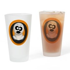 Cute Angry Ghost Orange Drinking Glass
