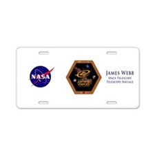 JWST NASA Aluminum License Plate