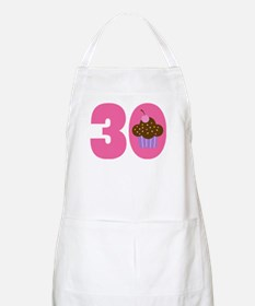 30th Birthday Cupcake Apron