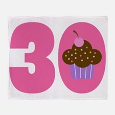 30th Birthday Cupcake Throw Blanket