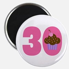 30th Birthday Cupcake Magnet