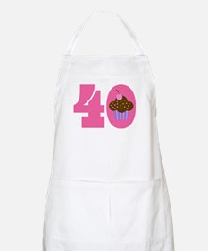 40th Birthday Cupcake Apron