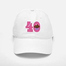 40th Birthday Cupcake Baseball Baseball Cap