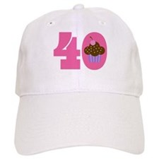 40th Birthday Cupcake Baseball Cap