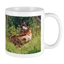 rothschild giraffe in grass kenya collection Mug