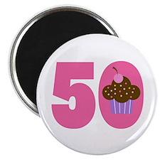 50th Birthday Cupcake Magnet