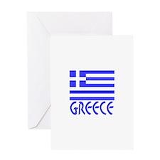 Greece Flag Name Greeting Card