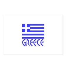 Greece Flag Name Postcards (Package of 8)