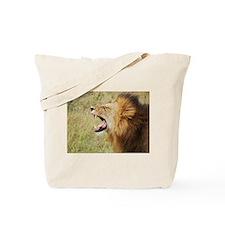 lion smelling kenya collection Tote Bag