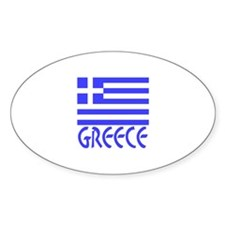 Greece Flag Name Smaller Image Decal