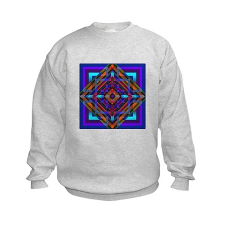 Geometric Design Kids Sweatshirt