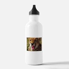 cheetah yawn kenya collection Water Bottle