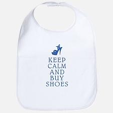 KEEP CALM SHOES BLUE.png Bib