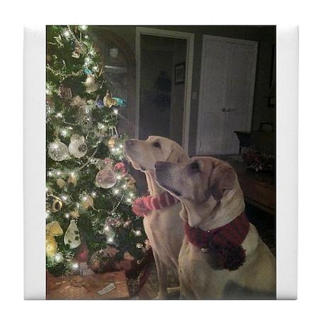 Labrador Holiday Tile Coaster