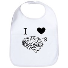I <3 Brains Bib