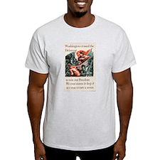 WASHINGTON CROSSED THE DELAWA Ash Grey T-Shirt