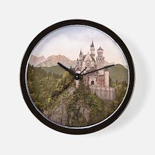 Vintage Neuschwanstein Castle Wall Clock