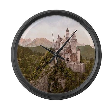 Vintage Neuschwanstein Castle Large Wall Clock